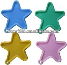 2012 hot selloong star shape 4 colors avialble balloon weights