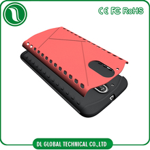 Hot selling case anti-shock tpu+pc 2 in 1 cover for moto g4 case anti slip bumper to protect
