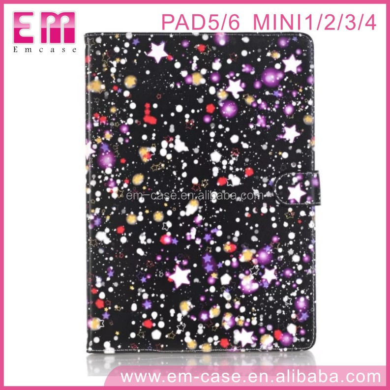 High Quality Cute Star Leather Flip Cover Universal Tablet Case For iPad 56/Mini1234 For iPad 56/Mini1234 Tablet Cover