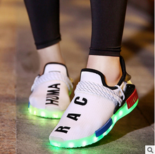 2016 New Luminous Flats Light Up Canvas Led Shoes Men Flat Casual Shoes Lightweight Loafer