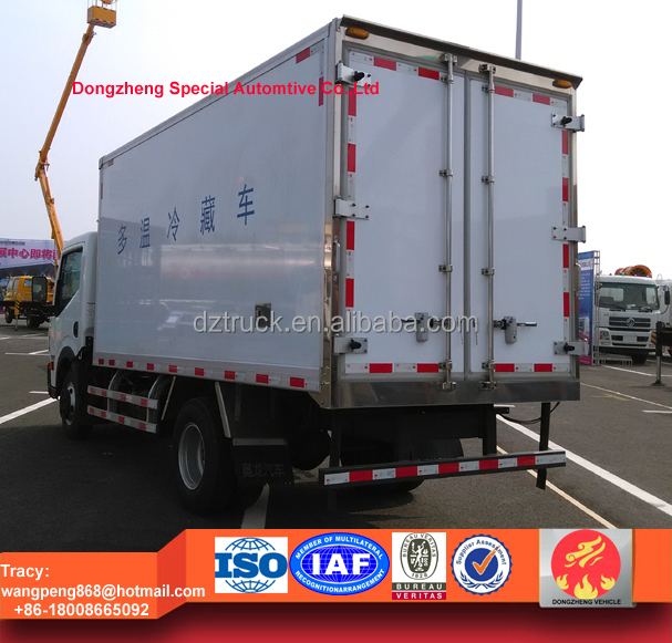 Nissan refrigerated truck, Nissan freezer box, 5 ton cooling van truck for sale