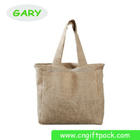 Jute Hessian Tote Shopping Bags with Handles for Garment Supermarket