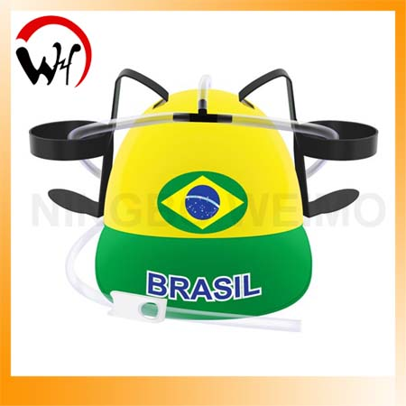 Brazil world cup 2014 beer hats with straws