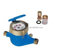 "India 1/2''-2"" Iron Body Economy Water Meter Home Tap Water Meter with coupling"