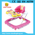 2017New Enropean standrad baby walker with musical butterfly face and light