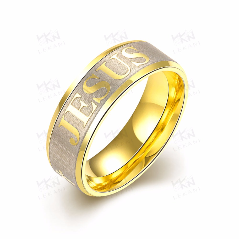 Cheap steel plating with gold ring designs for men