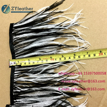 Manufacturer cheap price fabulous white and black ostrich feather boa for shoes
