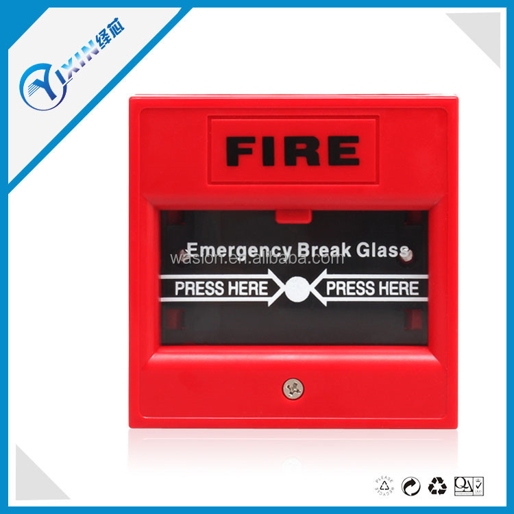 Fire Alarm Manual Key Call Point Pull Station with Waterproof Cover for Fire Alarms