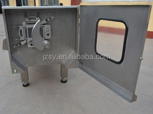 High output profession stainless steel frozen big meat cube cutter/fresh pork block Dicing Machine