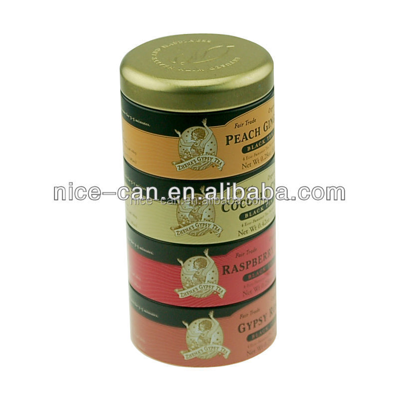 Four Layers Tea Tin Box For Different Tastes