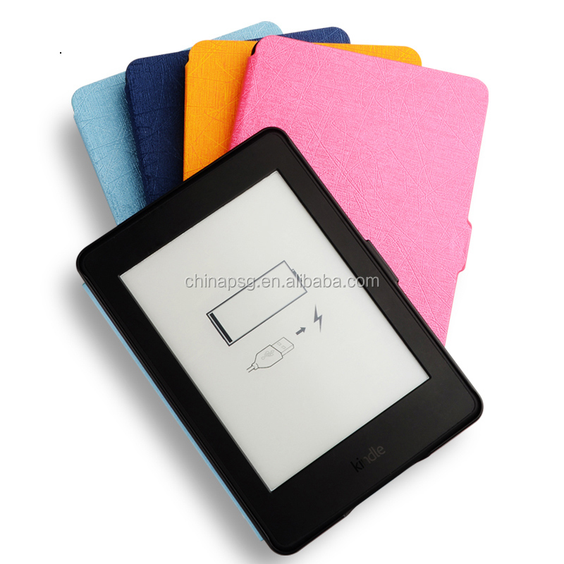 PU Leather 6 inch ultra-thin silk Texture tablet smart case for kindle paperwhite 2 for Amazon New for Kindle Case