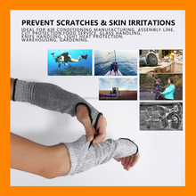 HPPE Arm Protection Anti Cut Sleeves 14 Inch Long with Thumb Slot UV Protection Knit Sleeve