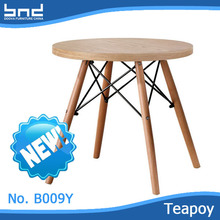 New design modern wooden round teapoy side table B009Y