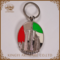 popular professional metal souvenir keychain for dubai