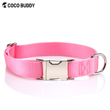 Metal Buckle Nylon Clip Cat Cheap Soft Dog Adjustable Puppy Collar Pet 9 Colors