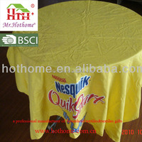 PVC cloths with circular table