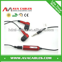 hotselling stereo earphone with mic for nokia mobile phones in-ear earphone