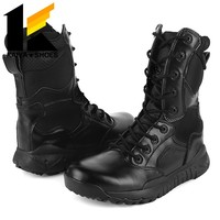 (China)Hot sale genuine leather army boots new designer style
