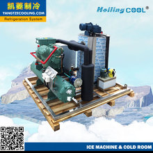 containerized 4tons/day marine ice flake machine deep sea fishing boat china