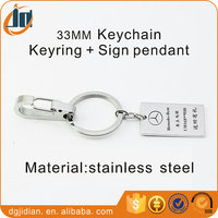 Stainless Steel Sign Keychain And Keyring