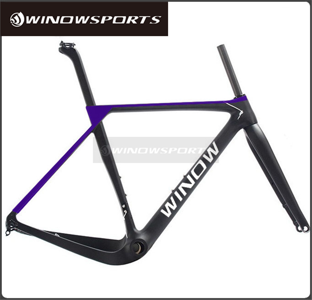 Winow Newest Road MTB Gravel Carbon Bike Frame, Gravel Carbon Bicycle Frame, Cyclocross Disc Bike Frame
