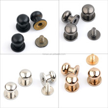 8*9*10mm big metal brass screw rivets knob leather craft stud rivets watchband belt round silver/black/gold ZD-014