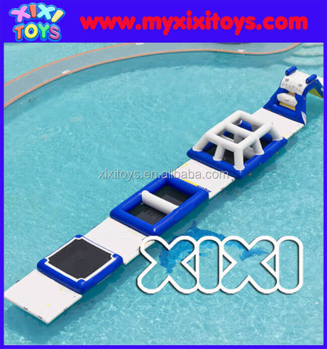 Popular inflatable water park,inflatable floating obstacle course on water