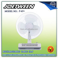 Rechargeable large battery powered fan with light F65+