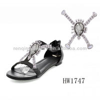 2013 Popular rhinestone sandal shoe accessories in sunmer