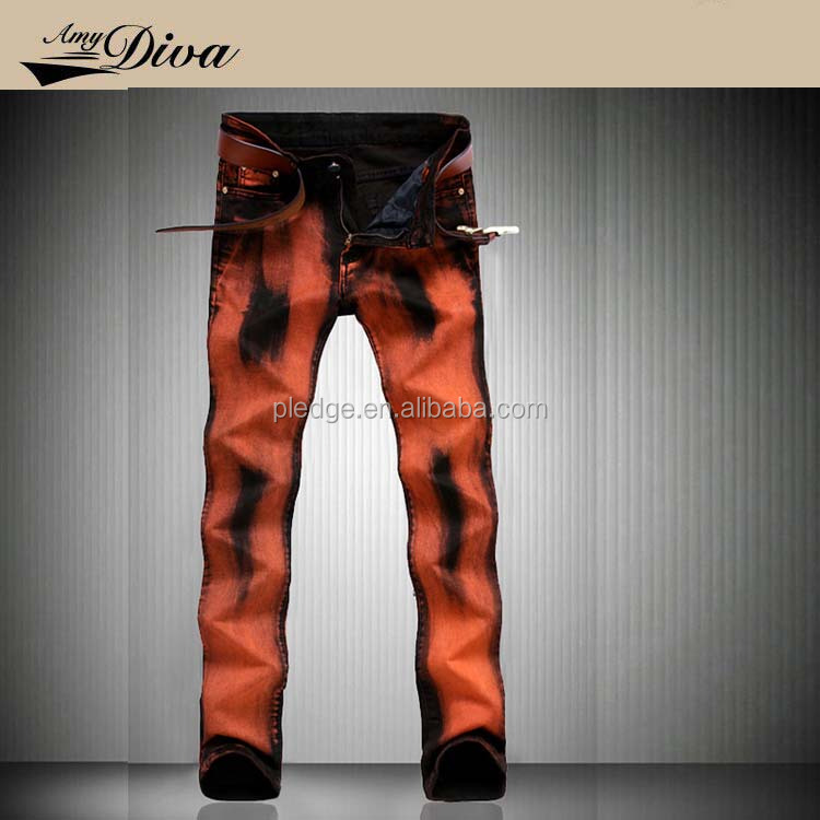 2017 latest fashion jeans men ripped jeans pants suit for cool men