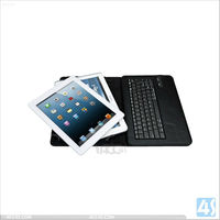 9.7 tablet pc leather case bluetooth keyboard for android/ios/win 7 P-UNI97TABKBCASE002