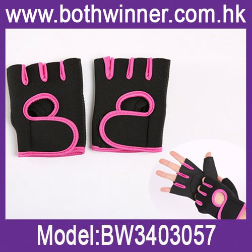 Custom embroidered fingerless gloves ,h0tnb anti slip bicycle gloves for sale