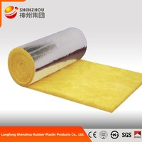 CE Certified Glass Wool Felt For Roof Insulation Aluminum Foil