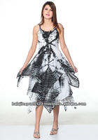 2014 SUMMER RAYON BEACH DRESS UMBRELLA TIE AND DYE DRESS