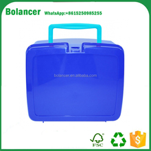 China low price hard plastic lunch box with handle