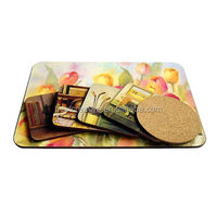 eco friendly square custom cork backed coasters gift set coaster