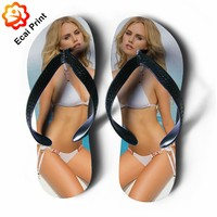 wholesale hot sale heat transfer sex flip flop shoses
