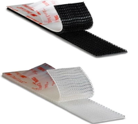 100mm Reusable Black Magic Tape For Medical Hook And Loop Glue Tape