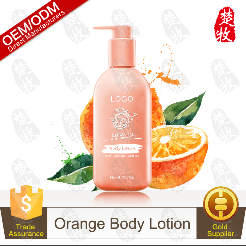 100% Natural and Organic Hotel Orange Body Whitening Lotion 300ml OEM/ODM Supplier