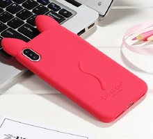 Rabbit silicone phone case for iphone X
