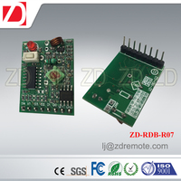 Best price 433MHZ rolling code decoding 433mhz RF receive superregeneration for motorcar alarm system ZD-RDB-R07