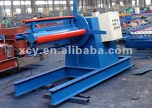 5 ton hydraulic auto uncoiler with car for decoiling coils rolls