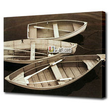 Wholesale impression Sandy beach oil painting canvas wall art printed