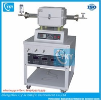 Mini Electric CVD Tube Furnace with 3 gas way mixer and digital gauge