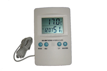 Max/min temperature display digital indoor/outdoor thermometer hygrometer
