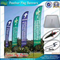 Aluminum Poles Advertsing Feather Banner Flag