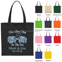 2016 best wedding gift name printed design canvas beach bag