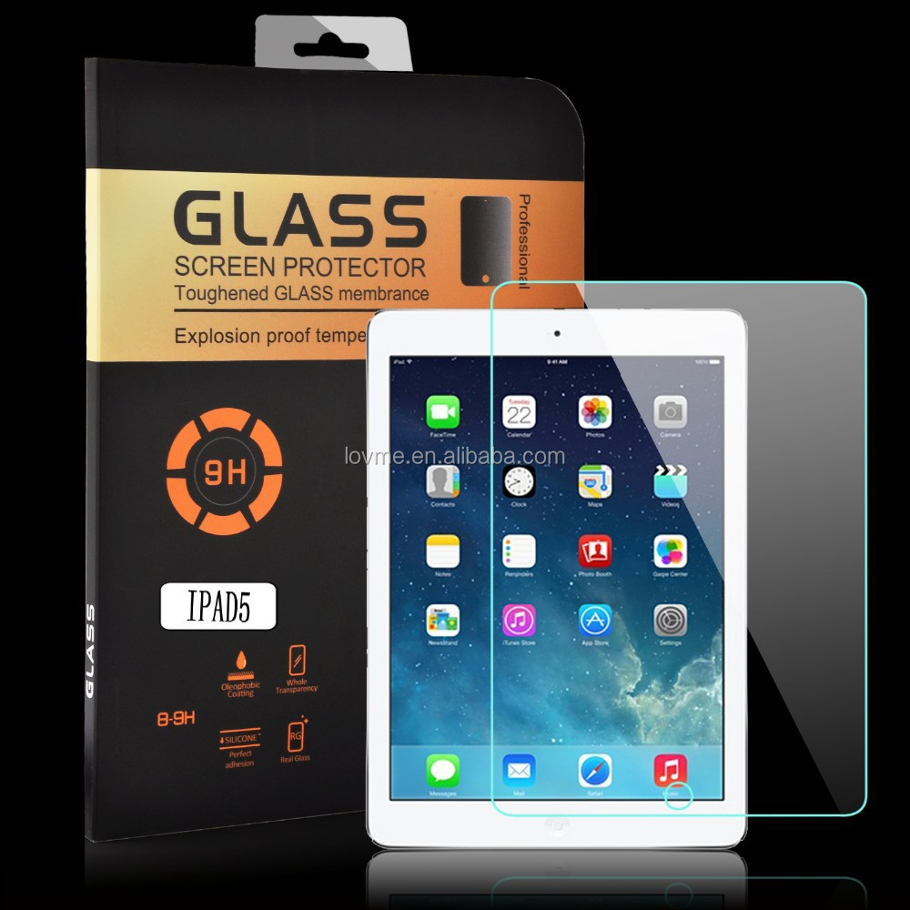 Premium 9H Ultra thin Tempered Glass Screen Protector For Apple iPad Air iPad 5