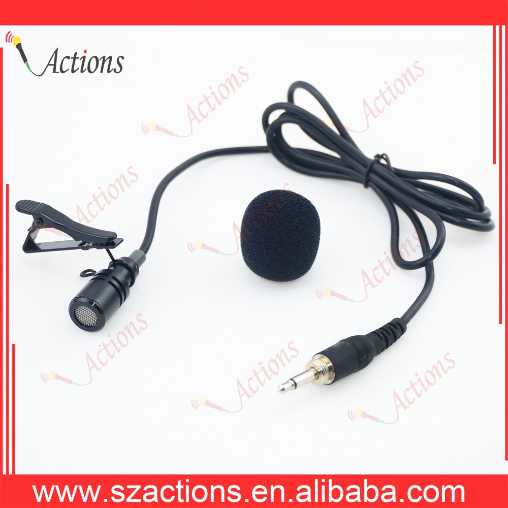 Professional high sensitive lavalier condenser microphone for speaking, emcee, teachers