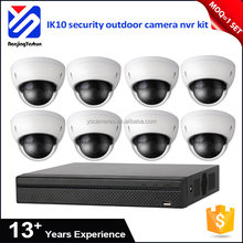 security camera system outdoor 24 IR LEDs ip camera 8 channel cheap poe nvr kit